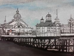 Close up of detail of Eastbourne Pier